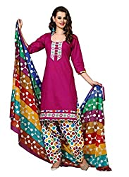 HIFI Ethnicwear Women's Dress Material(HIFIRANGOLI 3001_Purple_Free Size)