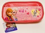 アナと雪の女王 FROZEN 合皮ペンケース   鍵付き 手帳 付き (ピンク)