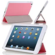 MoKo Ultra Slim Lightweight Smartshell Stand Case For Apple IPad Mini 7.9-Inch Tablet PINK (with Smart Cover Auto...