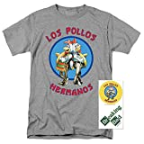 Popfunk Breaking Bad Los Pollos T Shirt & Exclusive Stickers (X-Large)