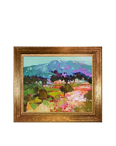"Alex Bertaina ""Parfum De Lilas"" Framed Canvas Print"
