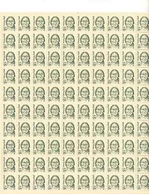 Sitting Bull Sheet of 100 x 28 Cent US Postage Stamps NEW Scot 2183