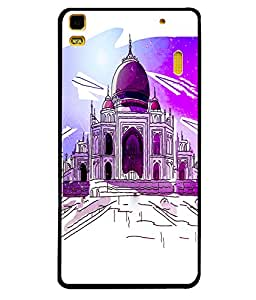 Printvisa 2D Printed Taj Mahal Designer back case cover for Lenovo A7000 - D4519