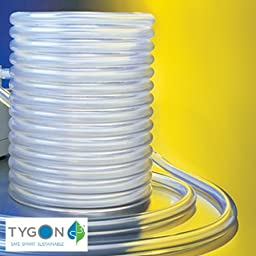 Tygon Non-DEHP Laboratory, Food & Beverage and Vacuum Plastic Tubing, Clear, 8mm ID x 12mm OD, 15m Length