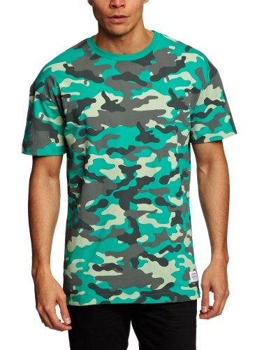 A Question Of Fresh Camo US Crew Neck Printed Men's T-Shirt Green Small