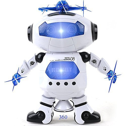 Kidsthrill Dancing Robot -Musical And Colorful Flashing Lights Kids Fun Toy Figure - Spins And Side Steps (Robots Toys compare prices)