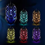 FOME Master Seven Color Breathing Light With Adjustable DPI Ergonomics Gaming Mouse Mice V22 Ghosting + FOME Gift