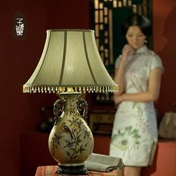 handbemalte keramik vintage european style table lampe beleuchtung. Black Bedroom Furniture Sets. Home Design Ideas