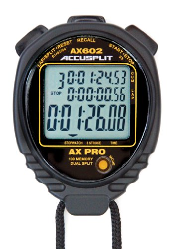 ACCUSPLIT AX602 100 Memory Stopwatch (Black)