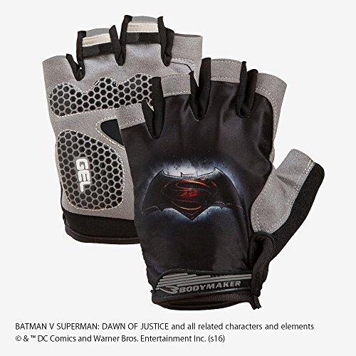 トレーニンググローブ エアーメッシュ BATMAN VS SUPERMAN ブラック : TG050BK : 【BODYMAKER / ボディメーカー 】 BB-SPORTS