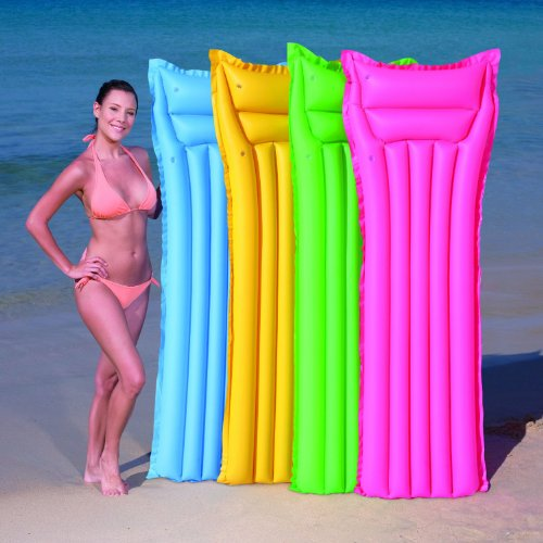 "Bestway Inflatable Lounge Air Mat Splash and Play Pool Raft 72"" x 27"" Colors May vary"