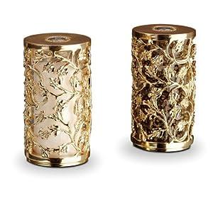 L 39 Objet Lorel Gold Salt And Pepper Shakers