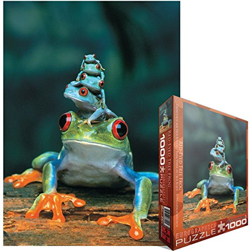 Jigsaw-Puzzle-1000-Pieces-1925X265-Red-Eyed-Tree-Frog