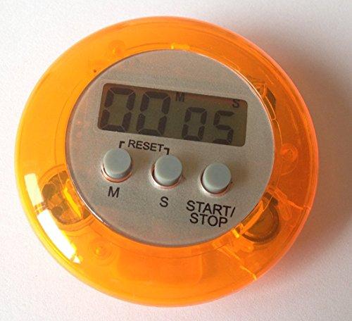 careforyou® machen Elektronische LCD Display runden Digital Kochen Timer Küche Timer Countdown Uhr Alarm Stoppuhr Maximale bis 99Minuten 59Sekunden orange