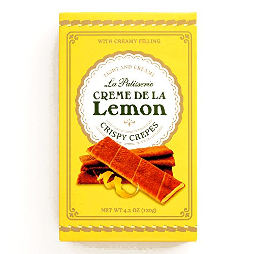 Creme de la Lemon Crispy Crepes 4.2 oz each (1 Item Per Order) (Creme De La Crepe compare prices)