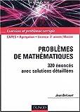echange, troc Jean Delcourt - Problèmes de mathématiques