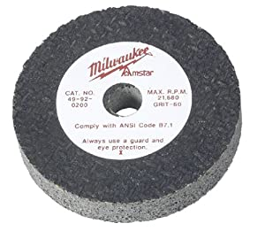Milwaukee 49-92-0200 2-1/2 by 1/2-Inch 60-Grit Grinding Wheel at Sears.com