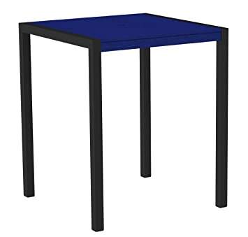 Mod Bar Table Frame Finish: Textured Bronze, Top Color: Teak
