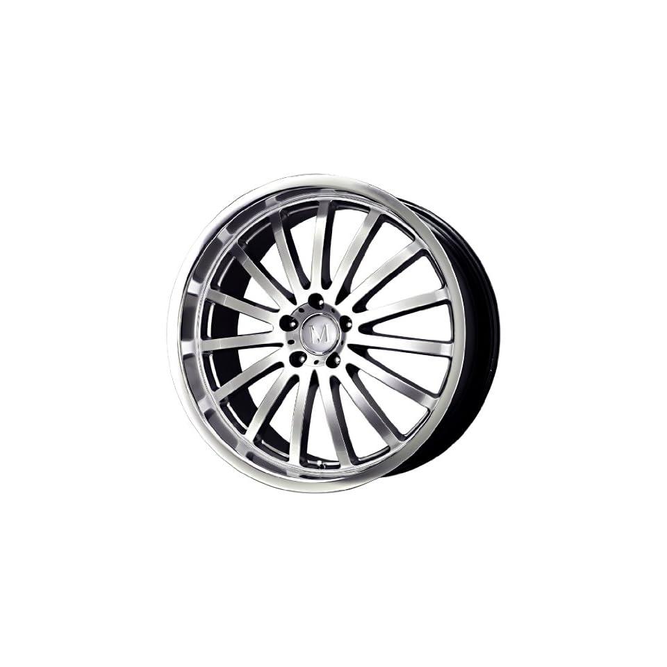 Mandrus Wheels Millennium Series Hyper Silver Machined Wheel (22x10.5/5x112mm)