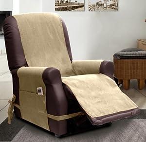 Scudo housse de fauteuil relax beige cuisine maison - Amazon fauteuil relax ...
