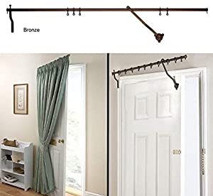 Door Curtain Pole Bronze Rising Portiere Rod 42 Quot 106cm