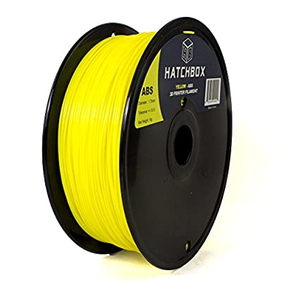 HATCHBOX 1.75mm Yellow ABS 3D Printer Filament - 1kg Spool (2.2 lbs) - Dimensional Accuracy +/- 0.05mm
