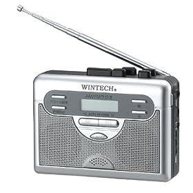 WINTECH ラジオ付テープレコーダー PCT-01R
