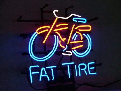 Fat Tire Logo Bicycle Bike Beer Bar Pub (Fat Tire Beer Sign compare prices)