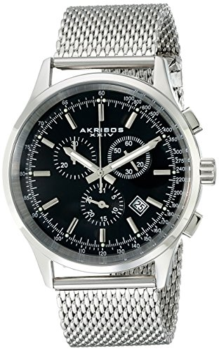 Akribos-XXIV-Mens-AK625SSB-Ultimate-Stainless-Steel-Watch