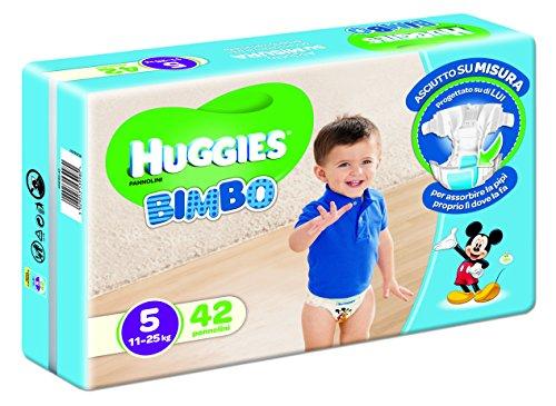 HUGGIES® BIMBO PANNOLINI Taglia 5 (11-25 kg) n°42 pz