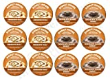 Donut House Collection 12 K-cup Sampler! Chocolate Glazed Donut & Cinnamon Roll! Chocolate & Cinnamon, what could be better?