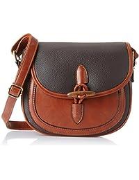 Lino Perros Women's Sling Bag (Dark Brown)