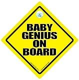 Baby Genius Car Sign Baby on Board Car Sign Funny Car Sign Baby Genius on board Baby Genius Car Sign Baby on Board Baby On Board Sign Baby Sign Decal Bumper Sticker Smart Kid Car Sticker Baby Car Sign