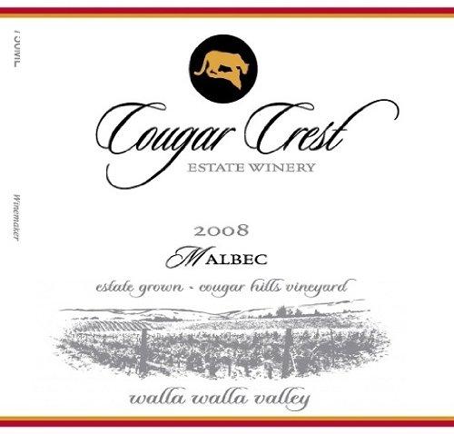 2008 Cougar Crest Malbec Walla Walla Valley Cougar Hill Vineyard Estate 750 Ml