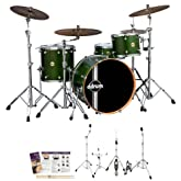 ddrum Paladin Maple Zombie Green 4-Piece Drum Set - Includes: Hardware, Drumsticks, Survival Guide & Drum Key