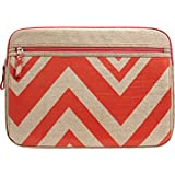Studio C - Chevron & On Laptop Sleeve - Coral, Linen (Color: coral)