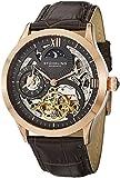 Stuhrling Original Men's 571.3345K54 Classic Winchester Tempest II Automatic Skeleton Dual Time Zone Rose Tone Watch
