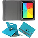 Acm Rotating 360° Leather Flip Case For Lg Gpad 2 10.1 Tablet Cover Stand Greenish Blue