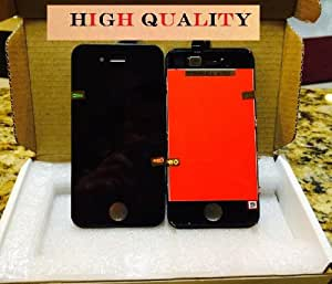 Iphone 4S Black Replacement Part - LCD Screen and Digitizer Assembly with Safty Box for Iphone 4s At&t Verizon Cdma GSM