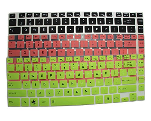 "3-Pack Translucent Silicone Keyboard Protector Cover Skin For Toshiba Satellite E45T E45T-A4100 E45T-A4200 E45T-A4300 P845 P845T P845T-S4305 L800 L805 L830 L840 S40 S40T P840 L40 L40T M800 M805 M840 C800 C800D C805 P800 Series (If Your ""Enter"" Key Looks L"