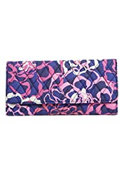 Gorgeous Vera Bradley Trifold Wallet in Katalina Pink