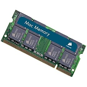 Corsair Mac Memory 2 X 2GB PC2-5300 667MHz 200-Pin SODIMM Memory for Apple Laptops