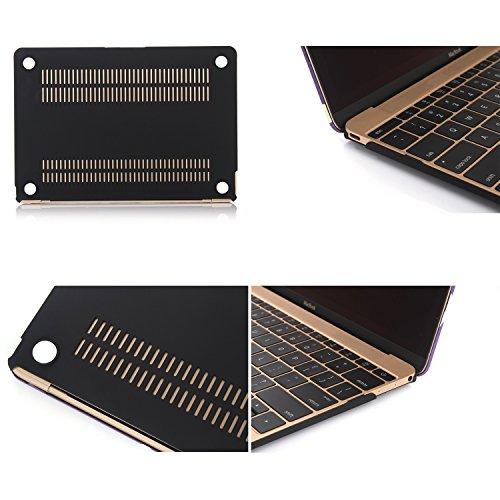 "TECOOL(TM) MacBook Retina 12 inchケース カバー 超薄型 プラスチック 多色 マウスパッド付 Apple New MacBook 12""インチ Retina Display 専用  モデル:A1398(UK国旗)"