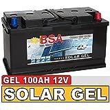 Gel Batterie 100Ah 12V Blei Gel Solarbatterie Wohnmobil Boot Versorgungsbatterie