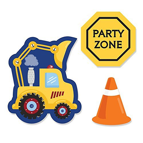 Construction Truck - DIY Shaped Party Cut-Outs - 24 Count