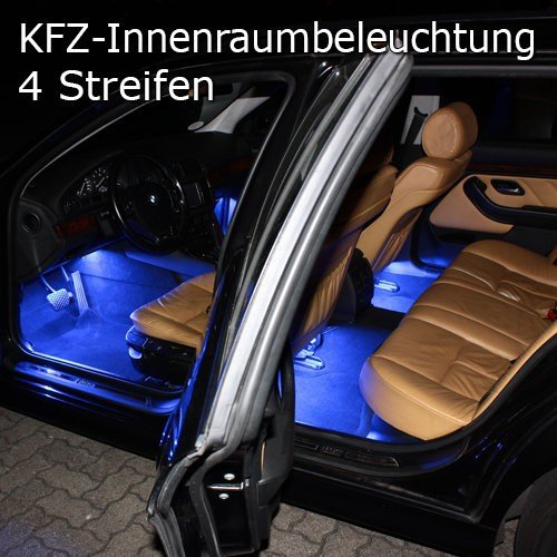2 tech auto innenraum led beleuchtung mit musik sensor. Black Bedroom Furniture Sets. Home Design Ideas