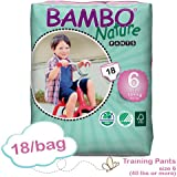 Bambo Training Pant XL: Size 6, Fits 40 Lbs or More, Absorbs 1200ml, 18/bg