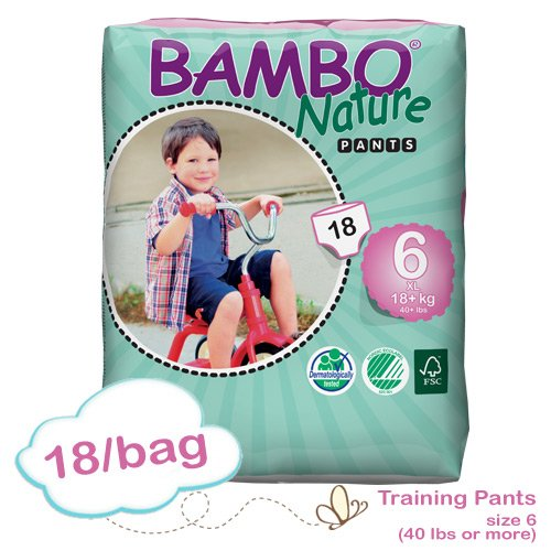 Bambo Training Pant XL: Size 6, Fits 40 Lbs or More, Absorbs 1200ml, 18/bg - 1