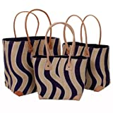 Ladies Mafana Small Beach Bag Tigress Applique