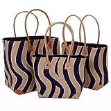 Ladies Mafana Small Beach Bag Tigress Applique